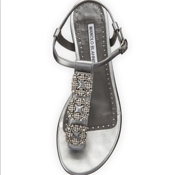 0c1ce5b95 Manolo Blahnik Ottolina Crystal T-Strap Sandal